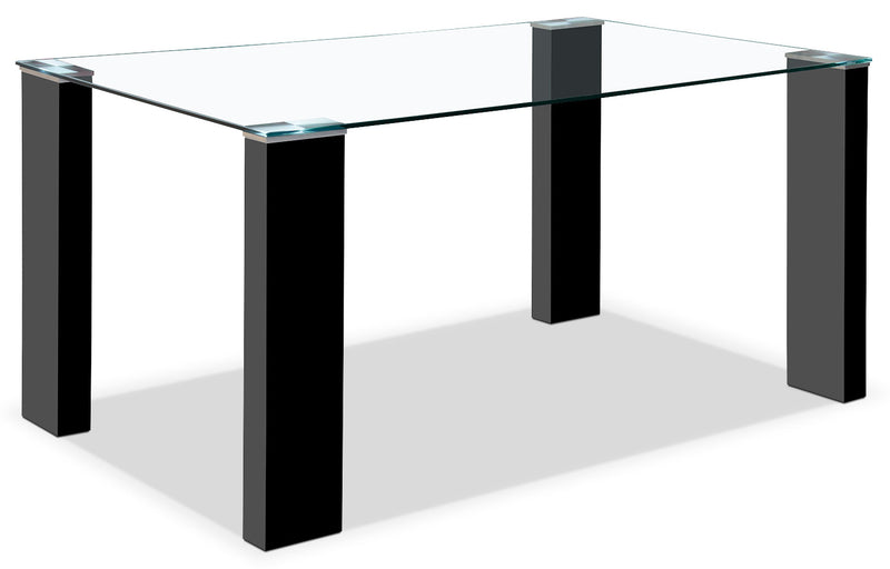 Milton Dining Table – Black - Modern style Dining Table in Black MDF and Glass