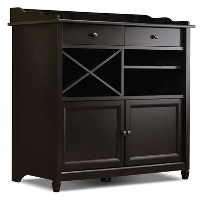 Edge Water Accent Cabinet with Wine Storage – Estate Black|Armoire décorative Edge Water avec rangement pour le vin – noir Estate|414844