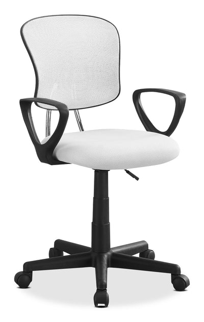 Mika Office Chair – White|Chaise de bureau Mika - blanche|MIKWHCHR