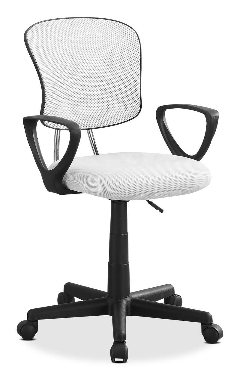 Mika Office Chair – White|Chaise de bureau Mika - blanche