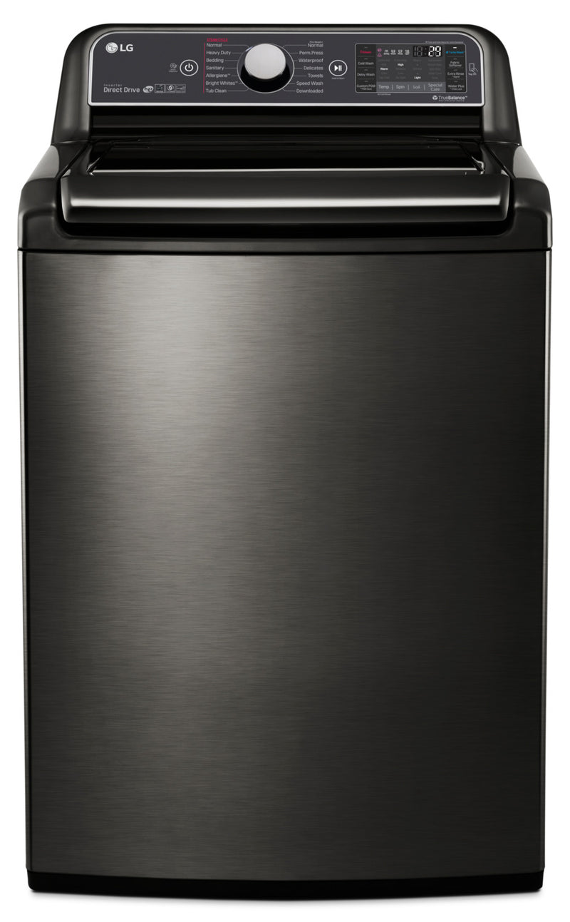 LG 6.0 Cu. Ft. Top-Load Steam™ Washer with TurboWash™ – WT7600HKA|Laveuse à la vapeur SteamWasherMC LG à chargement par le haut de 6,0 pi3  – WT7600HKA