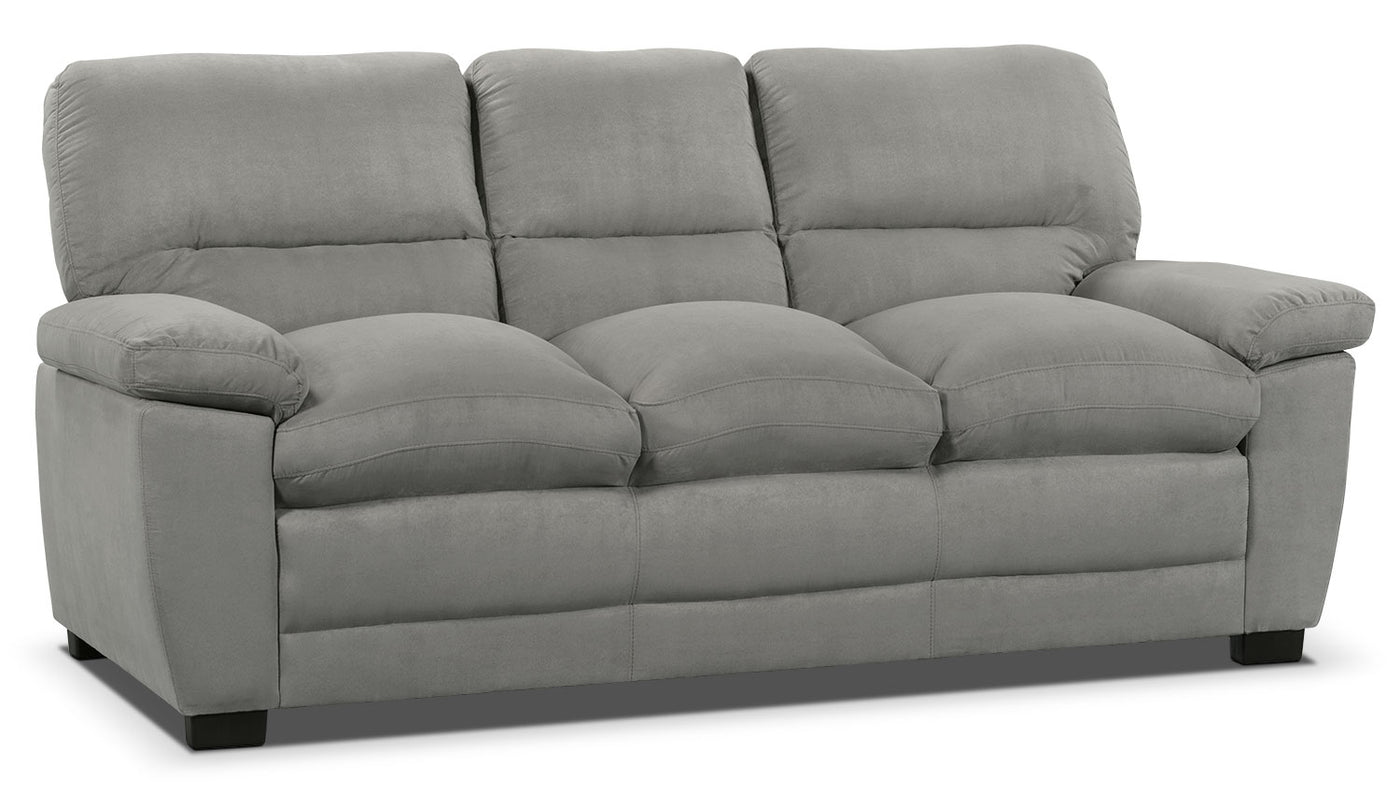 Outstanding Peyton Microsuede Sofa Grey Home Interior And Landscaping Ologienasavecom