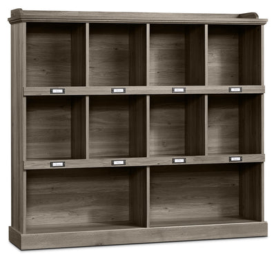 Barrister Lane Wide Bookcase – Salt Oak - Country style Bookcase in Grey