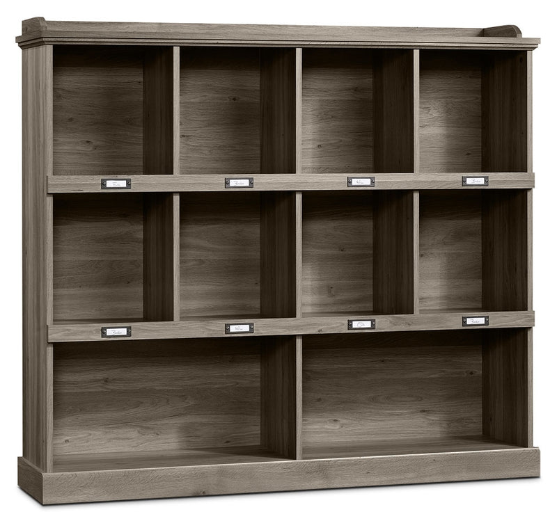 Barrister Lane Wide Bookcase – Salt Oak|Bibliothèque large Barrister Lane - chêne salé|414726