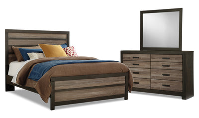 Harlinton 5-Piece Queen Bedroom Package|Ensemble de chambre à coucher Harlinton 5 pièces avec grand lit|HARLCQP5