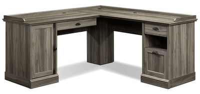 Barrister Lane Corner Desk - Salt Oak|Bureau en coin Barrister Lane|BARRIDSK