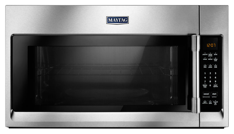 Maytag 2.0 Cu. Ft. Over-the-Range Microwave with Interior Cooking Rack – YMMV4206FZ|Four à micro-ondes à hotte intégrée Maytag de 2,0 pi³ avec grille de cuisson interne - YMMV4206FZ