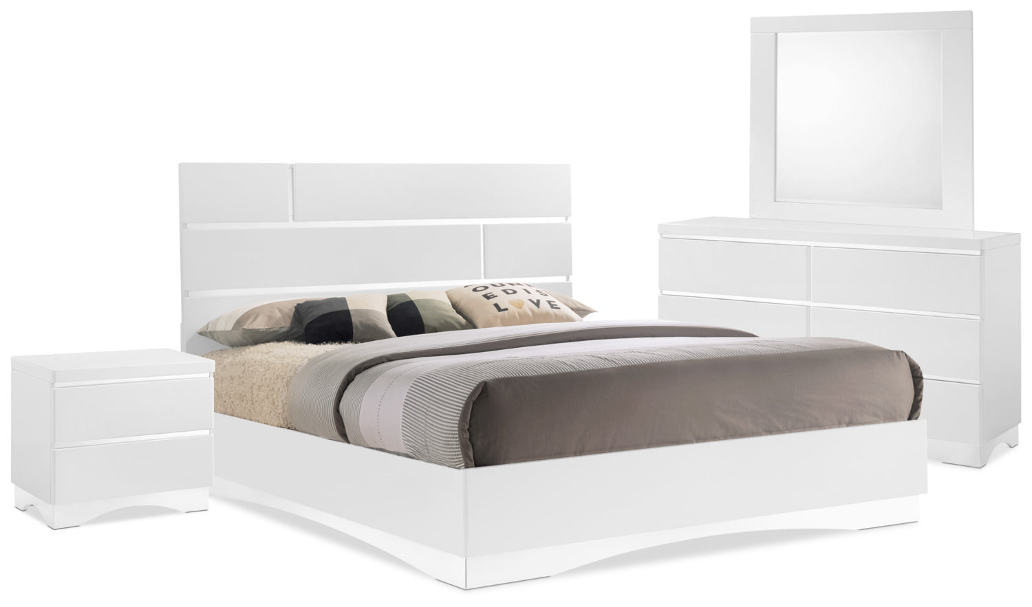Stanton 6 Piece King Bedroom Package White The Brick