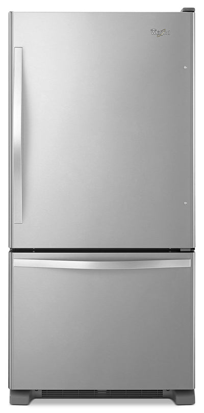 Whirlpool 19 Cu. Ft. Bottom-Mount Refrigerator – Stainless Steel - Refrigerator in Stainless Steel