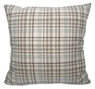 Kirk Accent Pillow – Blue, Taupe and Ivory|Coussin décoratif Kirk - bleu, taupe et ivoire|72943ADP