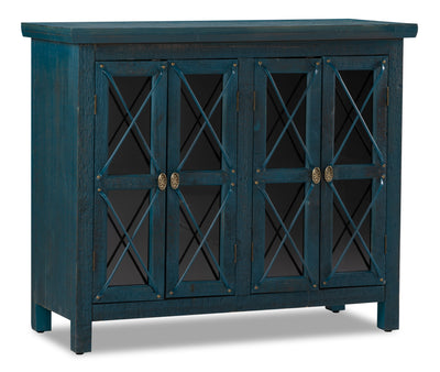 Makati  Accent Cabinet – Blue|Armoire décorative Makati|MAKATACC