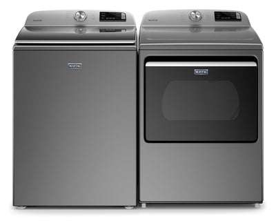Maytag 5.4 Cu. Ft. Smart Top-Load Washer and 7.4 Cu. Ft. Smart Electric Dryer - Metallic Slate