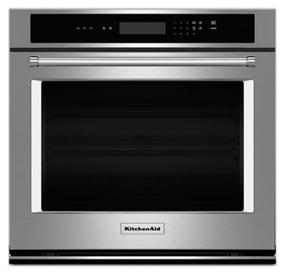"KitchenAid 30"" Single Wall Oven with Even-Heat™ Thermal Bake and Broil – Stainless Steel - Electric Wall Oven in Stainless Steel"
