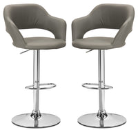 Monarch Hydraulic Contemporary Bar Stool, Set of 2 – Grey|Tabouret hydraulique contemporain Monarch, ensemble de 2 - gris