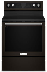KitchenAid 6.4 Cu Ft. Five-Element Electric Convection Range - YKFEG500EBS