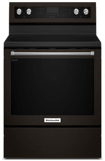 KitchenAid 6.4 Cu Ft. Five-Element Electric Convection Range - YKFEG500EBS - Electric Range in Black Stainless Steel