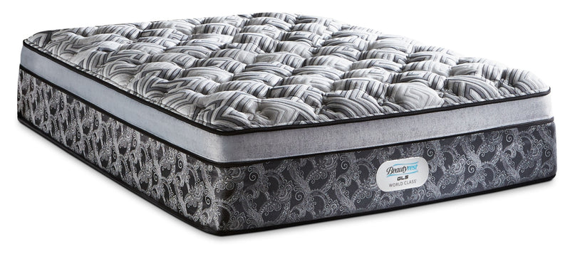 Beautyrest GL5 World Class Willow Ultra Euro-Top Plush Queen Mattress|Matelas moelleux à Euro-plateau épais GL5 Willow de Beautyrest World Class pour grand lit