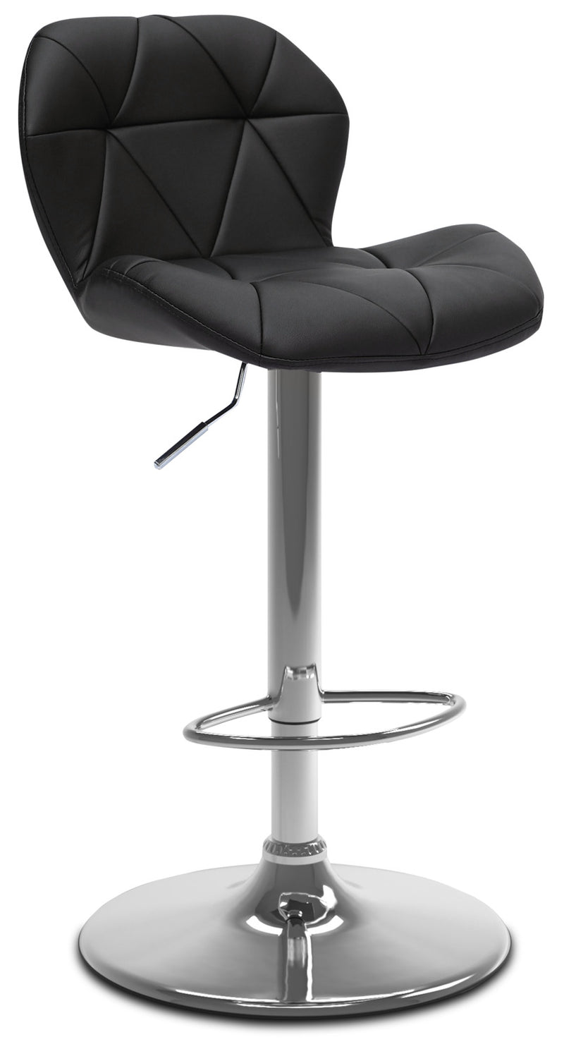 Emry Adjustable Bar Stool – Black|Tabouret bar réglable Emry - noir