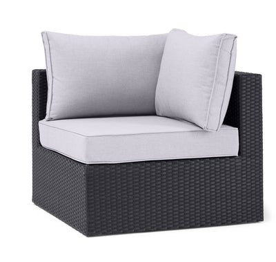 Minnesota Corner Patio Chair - Grey | Fauteuil en coin Minnesota pour la terrasse - gris | MIN2G0CS