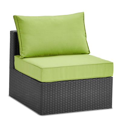 Minnesota Armless Patio Chair - Green|Fauteuil sans accoudoirs Minnesota pour la terrasse - vert|MINNS0AM