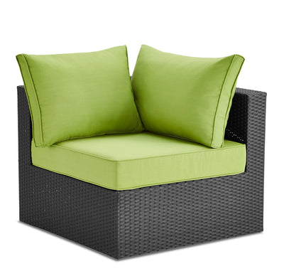 Minnesota Corner Patio Chair - Green|Fauteuil en coin Minnesota pour la terrasse - vert|MINNS0CS
