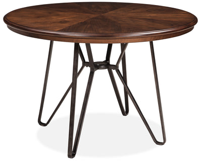 Centiar Dining Table - Industrial style Dining Table in Medium Brown Engineered Wood and Metal