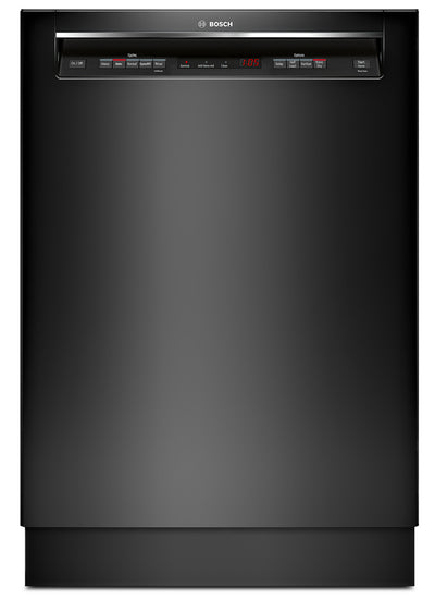 Bosch 300 Series Recessed Handle Built-In Dishwasher – SHEM63W56N - Dishwasher in Black