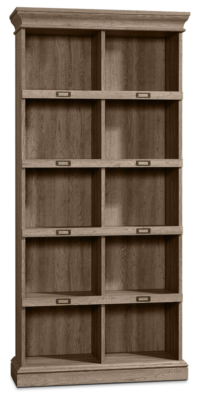 Barrister Lane Tall Bookcase - Scribed Oak - Country style Bookcase in Scribed Oak Engineered Wood and Paper Laminate