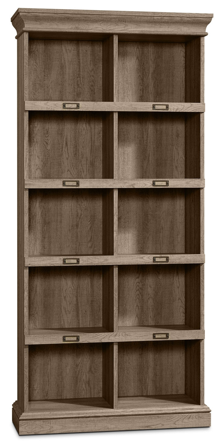 Barrister Lane Tall Bookcase - Scribed Oak|Bibliothèque haute Barrister Lane – chêne Scribed