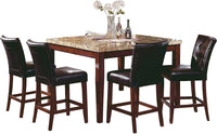 Montibello Counter Height Formal 5-Piece Dining Package