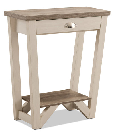 Arika Console Table – Ivory - Contemporary style Hall Table in White Wood