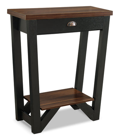 Arika Console Table – Black - Contemporary style Hall Table in Dark Brown Wood