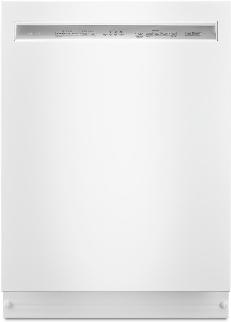 KitchenAid 46 DBA Dishwasher with ProWash Cycle and PrintShield – KDFE104HWH|Lave-vaisselle KitchenAid de 46 dBA avec cycle ProWashMC et fini PrintShieldMC – KDFE104HWH|KDFE104W
