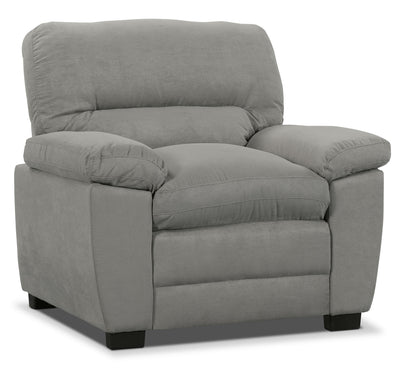 Peyton Microsuede Chair - Grey - Contemporary style Chair in Grey