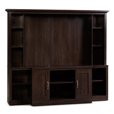 "Kenora Entertainment Centre with 48"" TV Opening - Modern style Wall Unit in Dark Brown Engineered Wood and Paper Laminate"