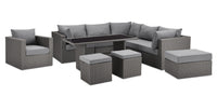Morris 10-Piece Patio Package with Storage