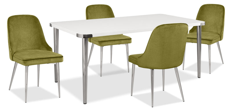 Manhattan 5-Piece Dining Package – Green|Ensemble de salle à manger Manhattan 5 pièces - vert
