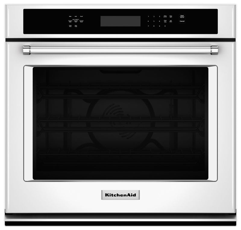 KitchenAid 4.3 Cu. Ft. Single Wall Oven with Even-Heat™ True Convection - White|Four mural simple KitchenAid de 4,3 pi³ à convection véritable Even-Heat(MC) - blanc