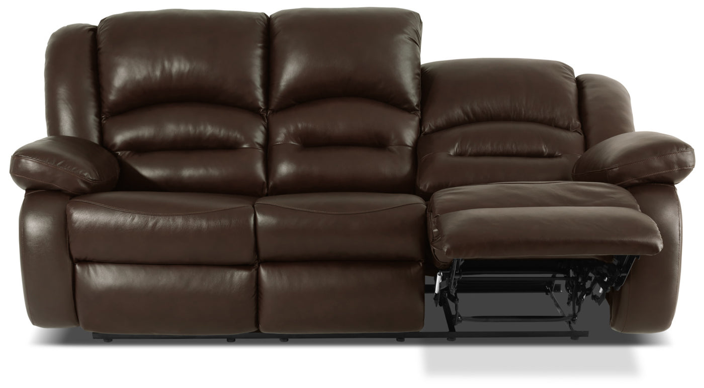 Pleasant Toreno Genuine Leather Reclining Sofa Brown Download Free Architecture Designs Grimeyleaguecom