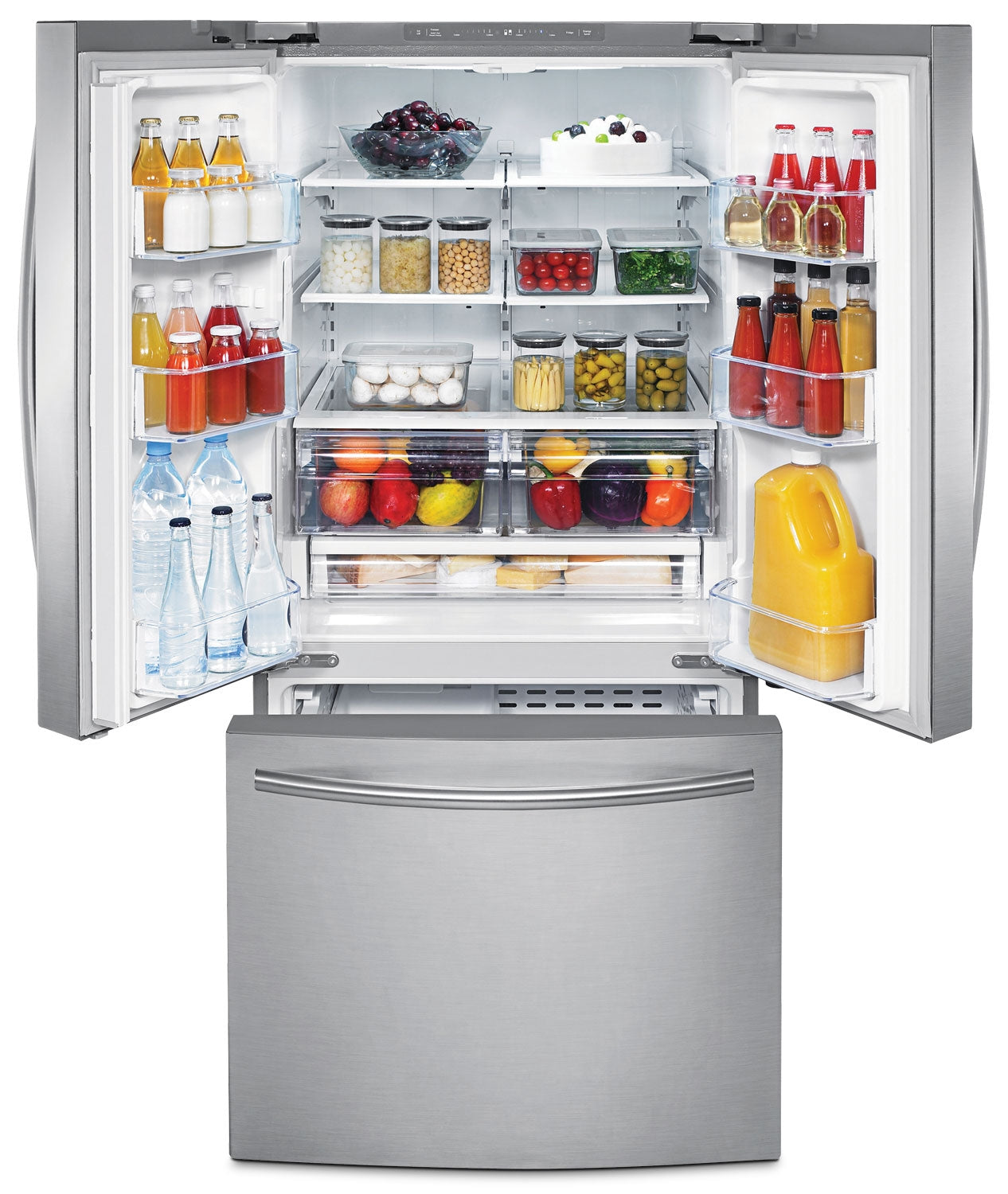 Samsung 22 Cu Ft 30 Wide French Door Refrigerator Stainless