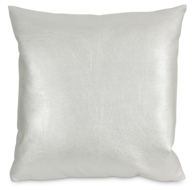 Metallika Accent Pillow – Pearl White|Coussin décoratif Metallika - blanc perle|72955ADP