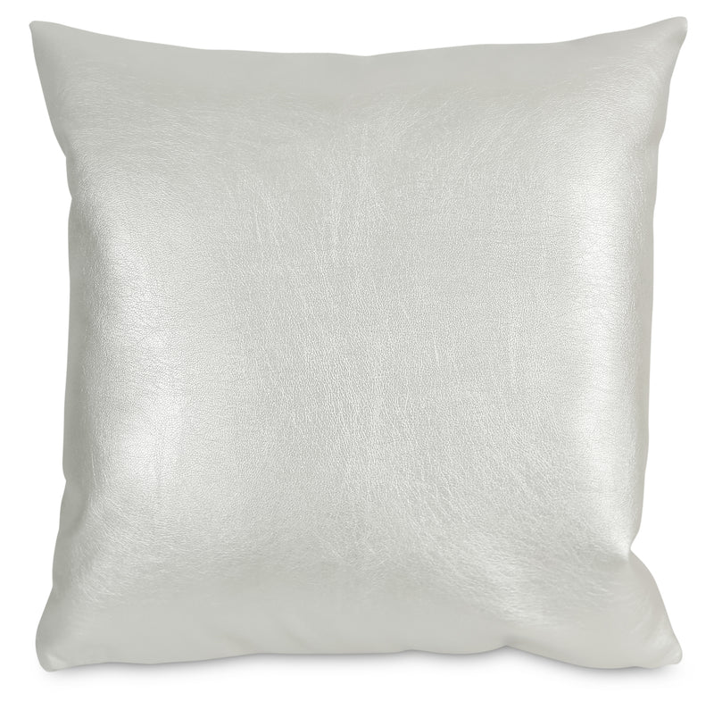 Metallika Accent Pillow – Pearl White|Coussin décoratif Metallika - blanc perle