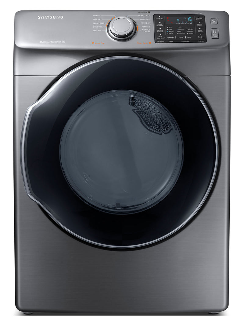 Samsung 7.5 Multi-Steam™ Electric Dryer – DVE45M5500P/AC|Sécheuse électrique Samsung de 7,5 pi3 avec fonction MultiSteamMC– DVE45M5500P/AC