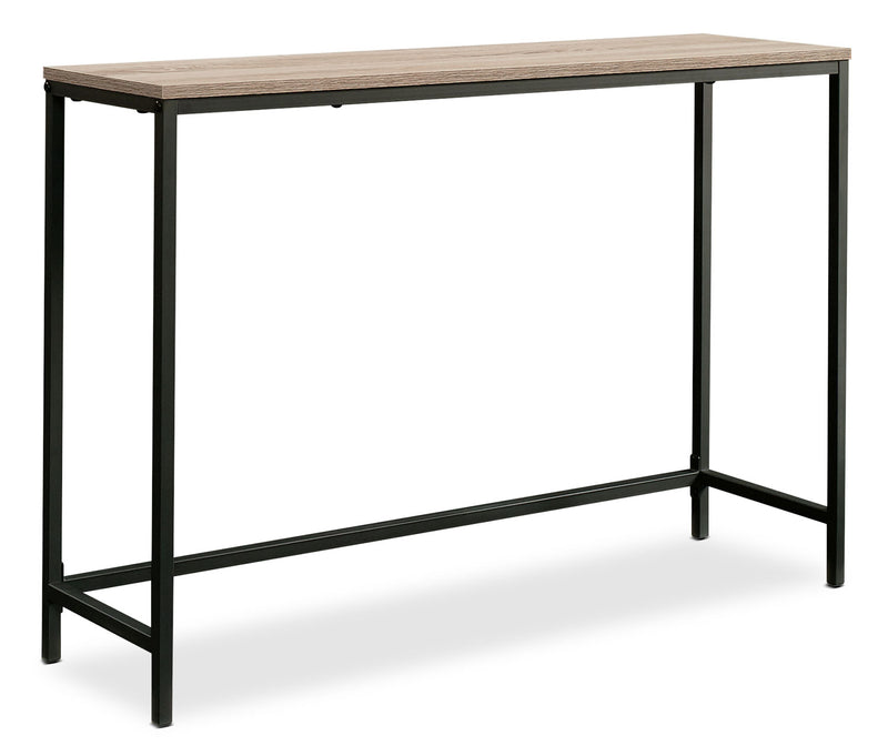 North Avenue Sofa Table - Industrial style Sofa Table in Black/Brown Metal and Wood