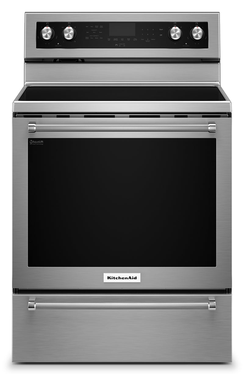 KitchenAid 6.4 Cu. Ft. Freestanding Electric Range – YKFEG510ESS - Electric Range in Stainless Steel