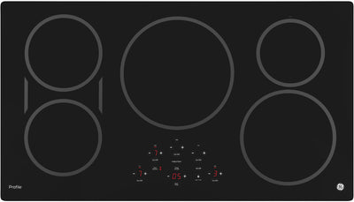 "GE Profile™ 36"" Electric Induction Cooktop – PHP9036SJSS - Electric Cooktop in Stainless Steel/Black"