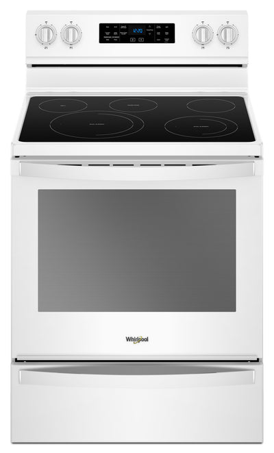 Whirlpool 6.4 Cu. Ft. Freestanding Electric Range with Frozen Bake™ Technology|Cuisinière électrique non encastrée Whirlpool®, technologie Frozen Bake™, 6,4 pi3|YWFE775W