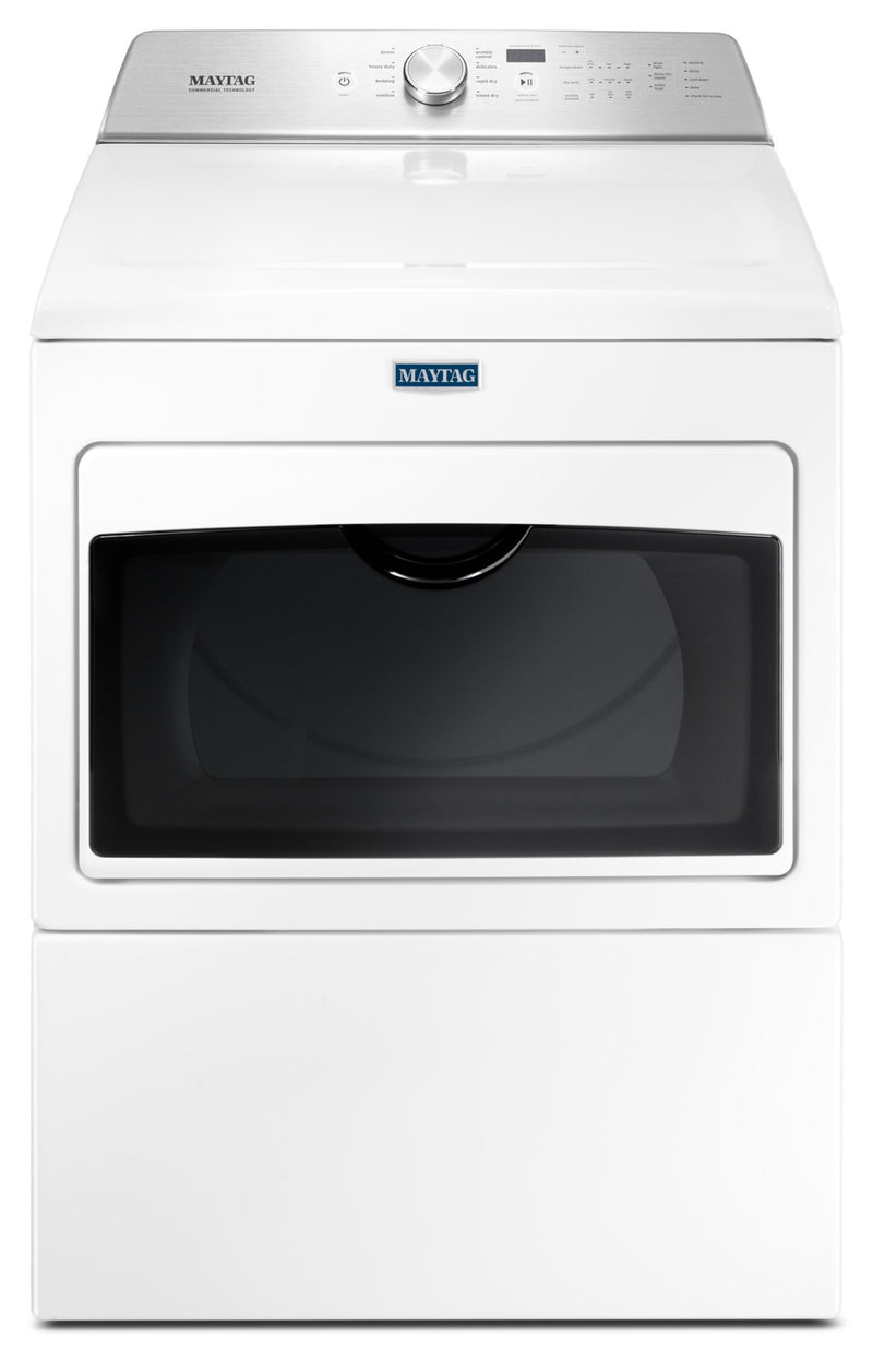 Maytag 7.4 Cu. Ft. Gas Dryer with Intellidry® – MGDB765FW|Sécheuse à gaz Maytag de 7,4 pi³ avec capteur IntelliDryMD - MGDB765FW