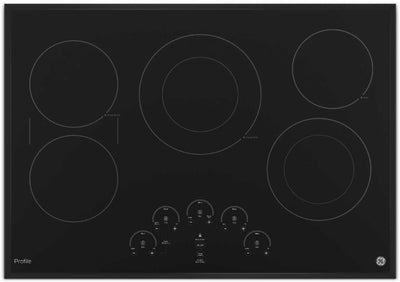 "GE Profile 30"" Electric Cooktop – PP9030DJBB - Electric Cooktop in Black"