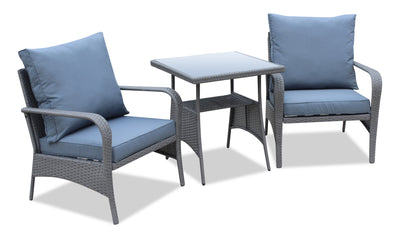 Nassau 3-Piece Patio Package - Grey | Ensemble de conversation Nassau 3 pièces - gris | NA2A3SET